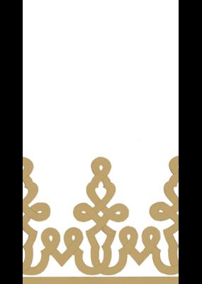 Caspari Dessin Passementerie Gold Guest Towel