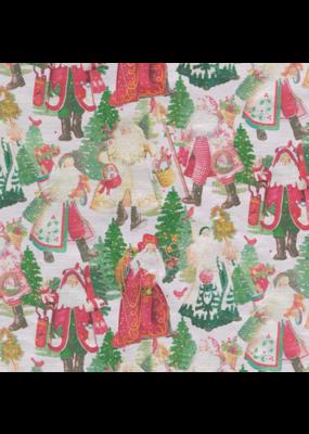 Caspari Santa's Snowflake Continuous Roll