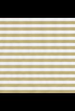Caspari Gold Stripe/Silver Reversible Continuous Roll