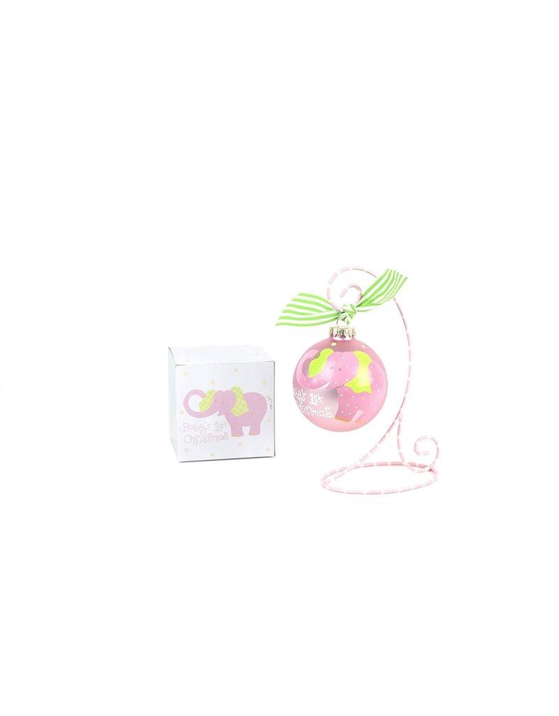 Coton Colors Elephant Pink Ornament