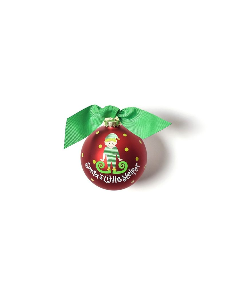 Coton Colors Santa's Little Helper Boy Ornament