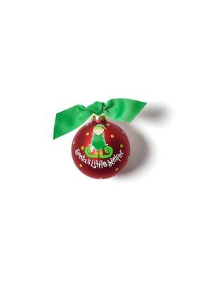 Coton Colors Santa's Little Helper Girl Ornament