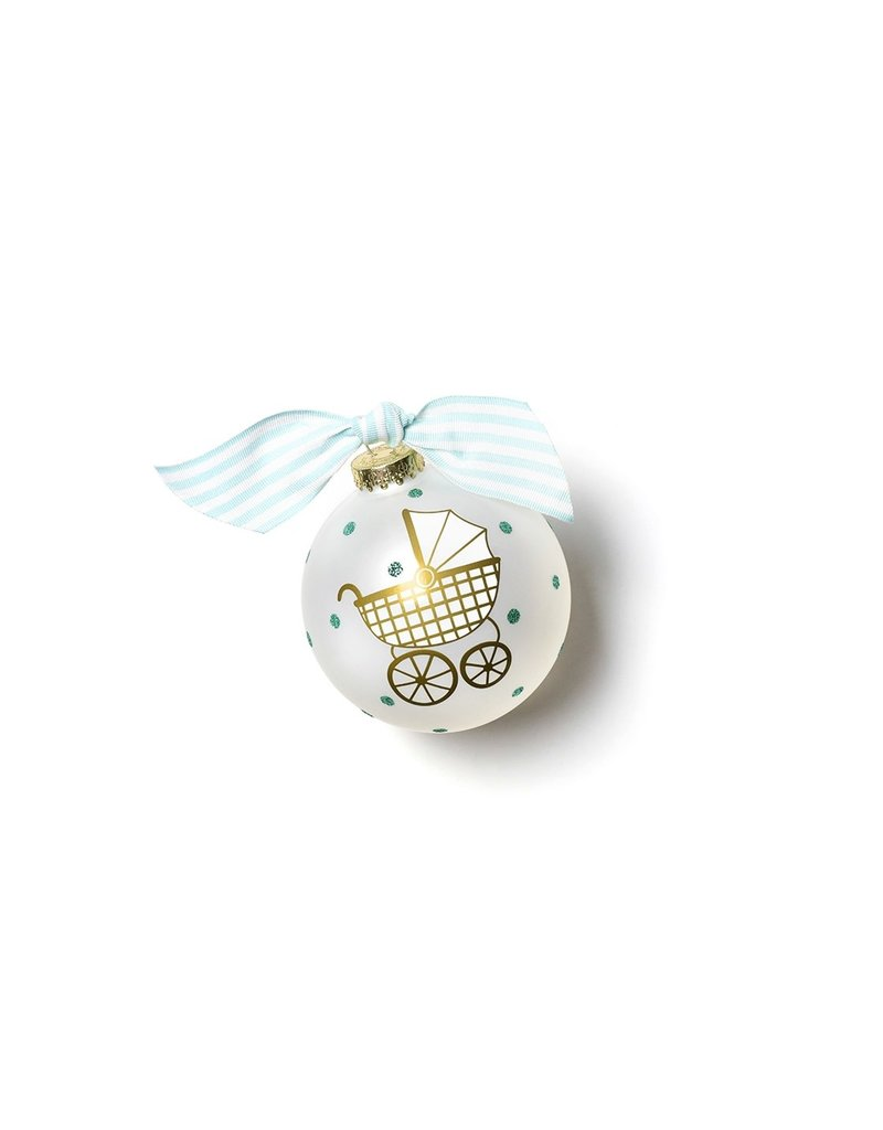 Coton Colors Welcome Little One Carriage BOY Ornament