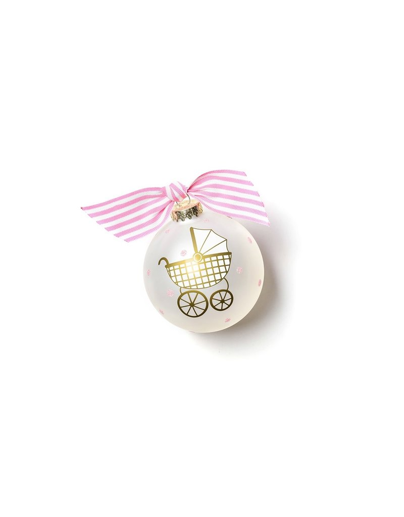 Coton Colors Welcome Little One Carriage Girl Ornament