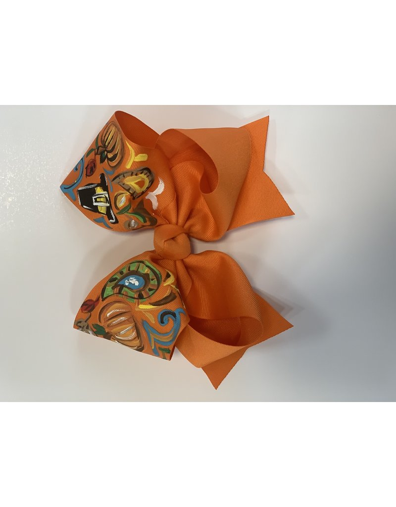 Two Sisters Bows Thanksgiving XLarge Bow