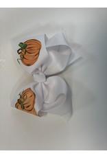 Two Sisters Bows Three Pumpkin XLarge Bow