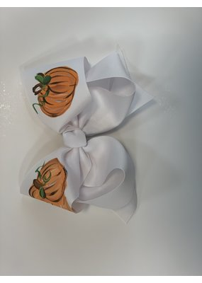 Two Sisters Bows Three Pumpkin XLarge Bow