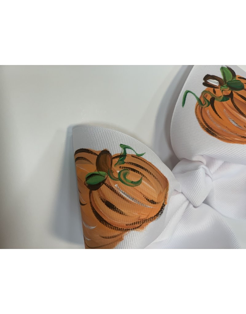 Two Sisters Bows Three Pumpkin Large Bow