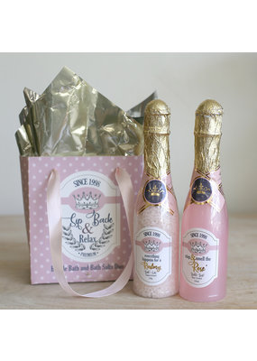 Wine Down Bath Duo Gift Set Pink/White