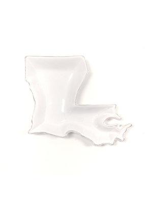 Louisiana Shaped Platter White