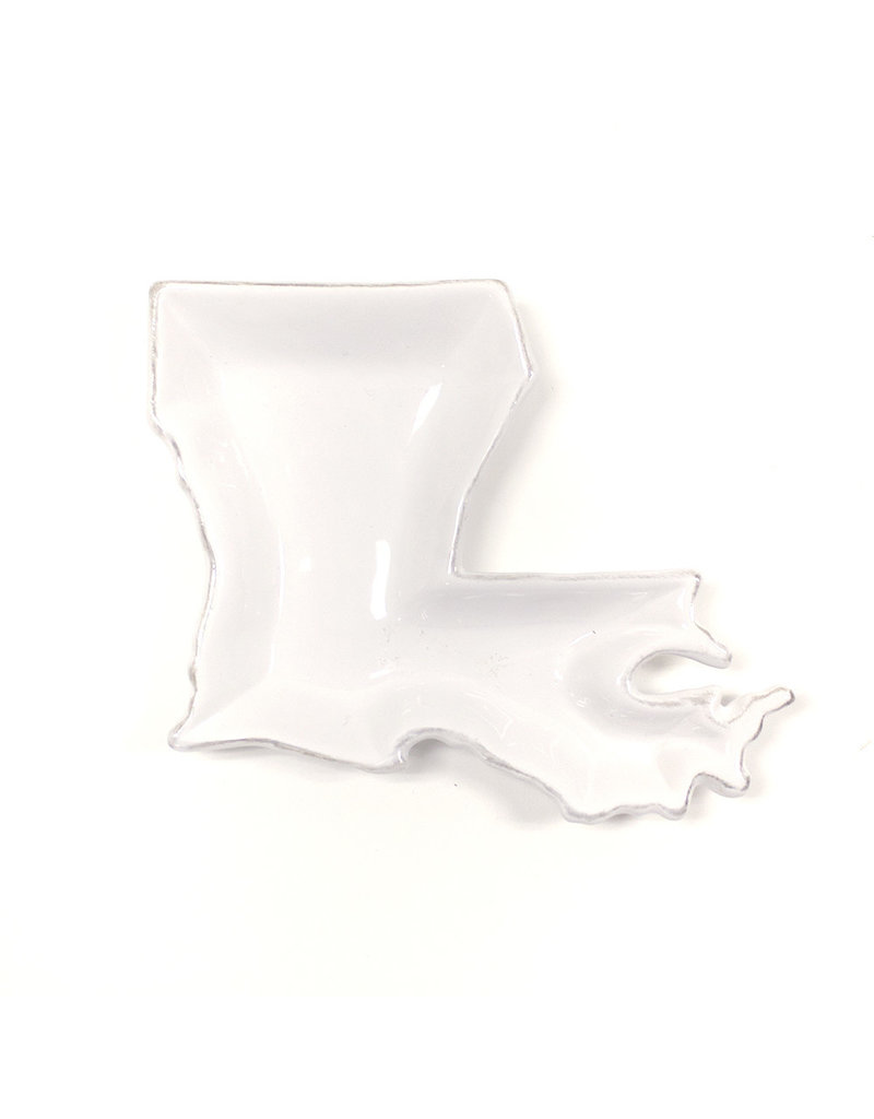 Louisiana Shaped Platter White