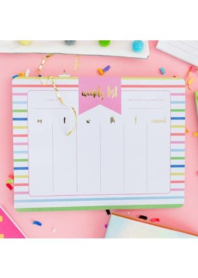 Taylor Elliot Designs Striped Weekly List Pad Planner