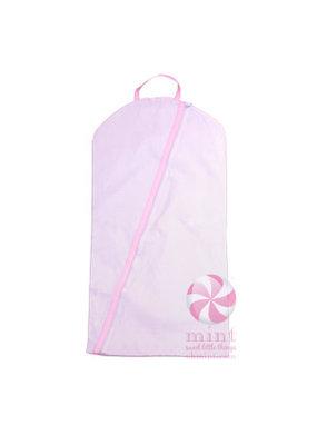 Oh Mint Pink Seersucker Hanging Garment Bag