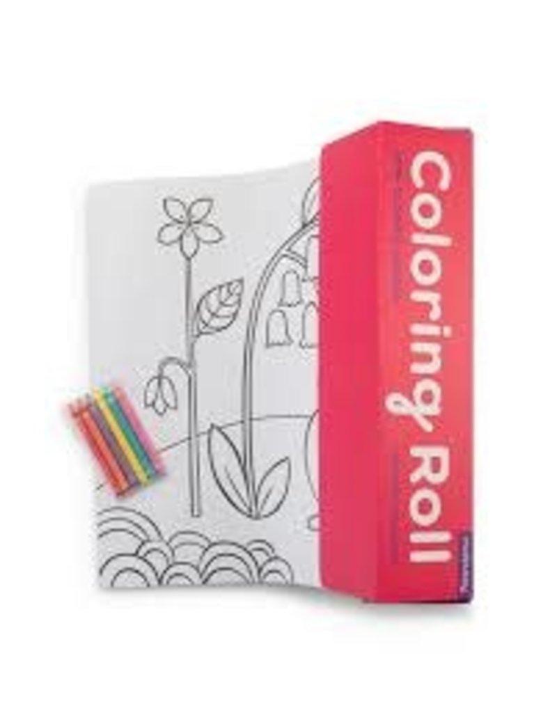 MudPuppy Coloring Roll-Flower Garden