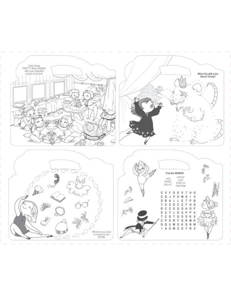 The Piggy Story CARRY ME! Coloring Activity Tote-Pretty Ballerinas