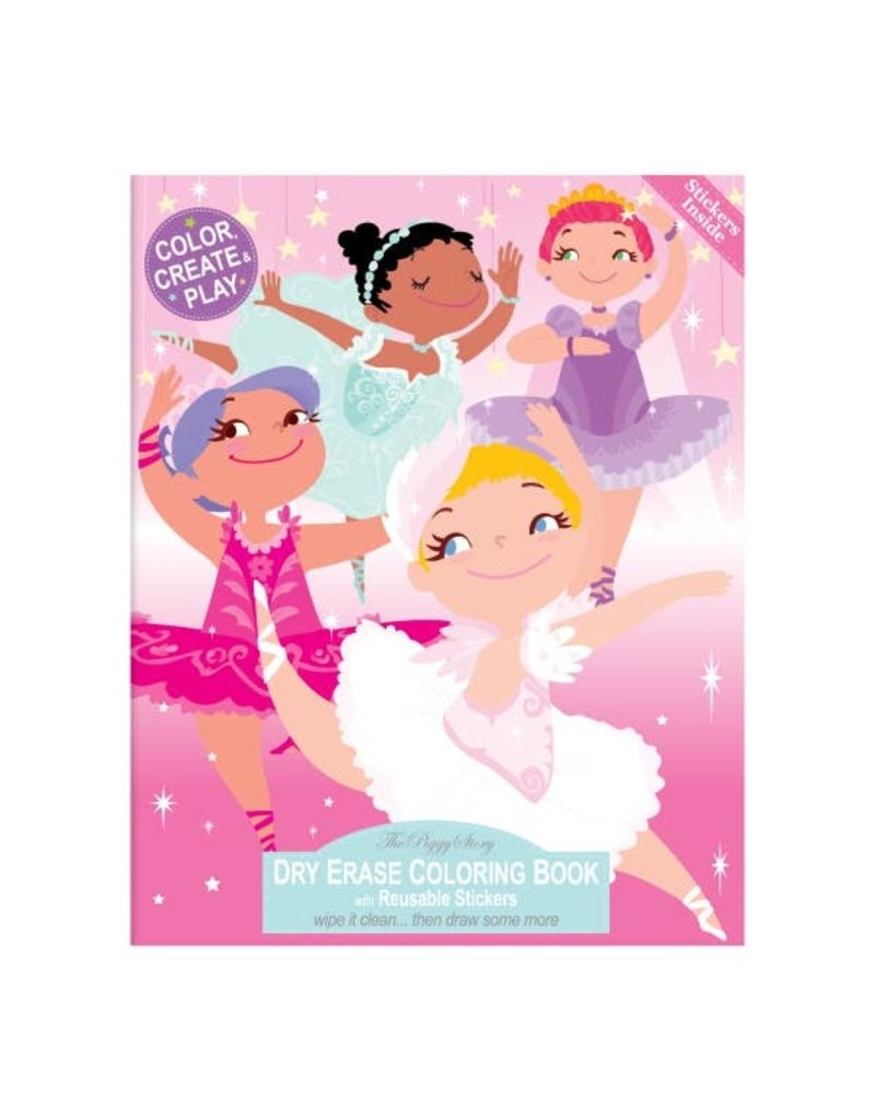 The Piggy Story Dry Erase Coloring Book- Pretty Ballerinas
