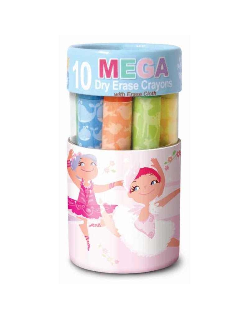 The Piggy Story Dry Erase Mega Crayon - Pretty Ballerinas