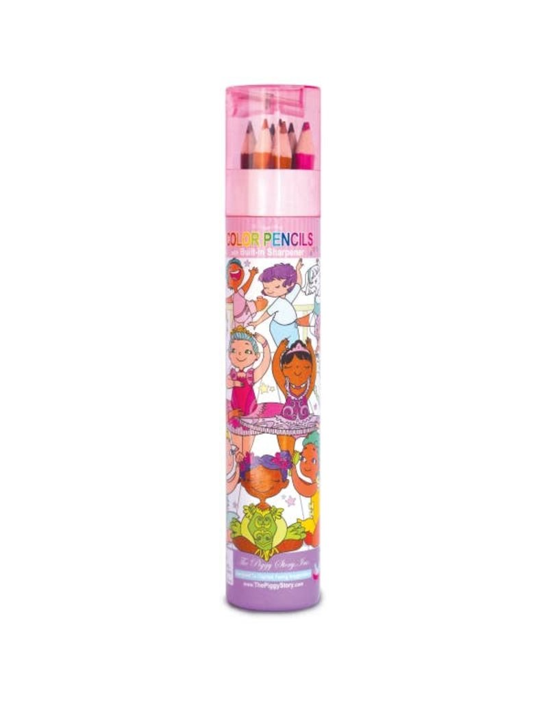 The Piggy Story Color Pencil Tube w/Sharpener - Dance Magic