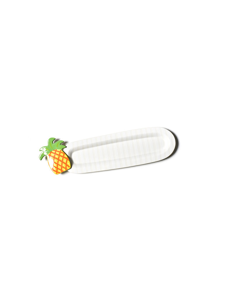 Coton Colors White Stripe Small Mini Skinny Oval Tray