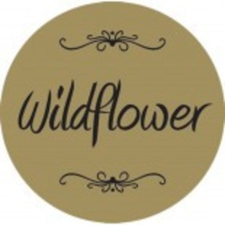 "Wildflower Gold Foil Label 1 1/4"" - 250 Ct"