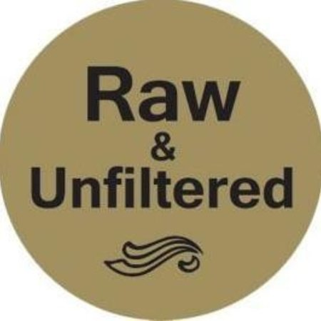 Gold Foil Adhesive Label-Raw & Unfiltered - 250 Ct