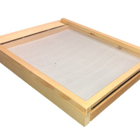 8 Frame Unfinished Pine Varroa Screen Bottom Board w/ Drawer and ER