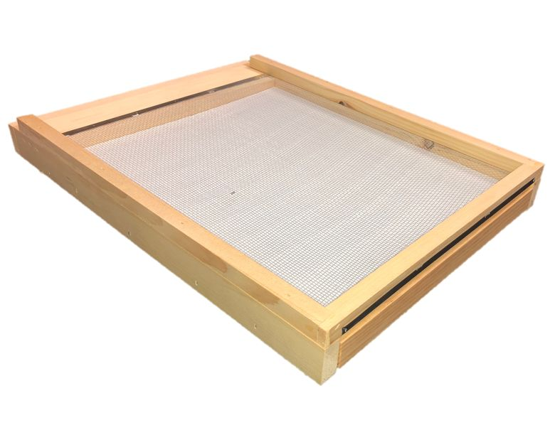 10 Frame Pine Unfinished Varroa Screen Bottom Board w/ Drawer and ER