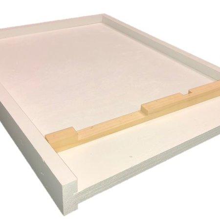 8 Frame Pine White Bottom Board w/Entrance Reducer