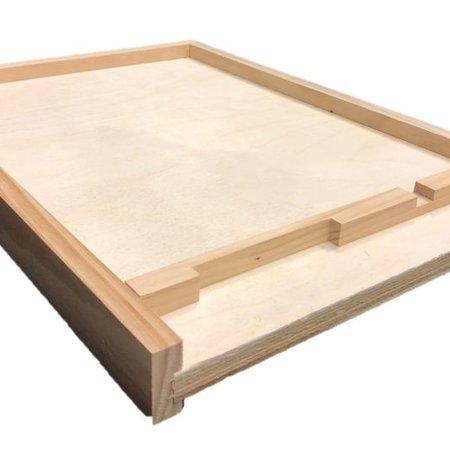 8 Frame Unfinished Pine Bottom Board w/Entrance Reducer