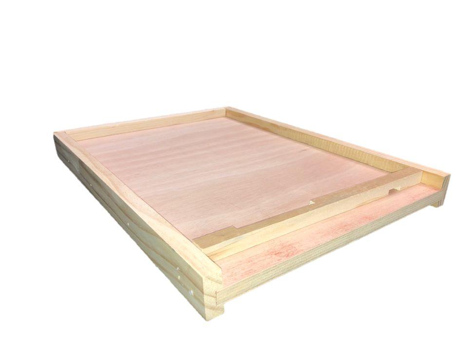 10 Frame Cypress Unfinished Bottom Board w/Entrance Reducer