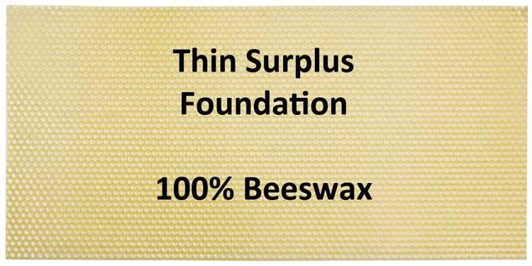 Medium Cut Comb Honey Foundation 10 sheets