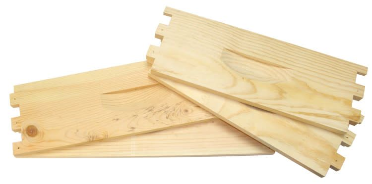 10 Frame Shallow Unassembled Pine Hive Box