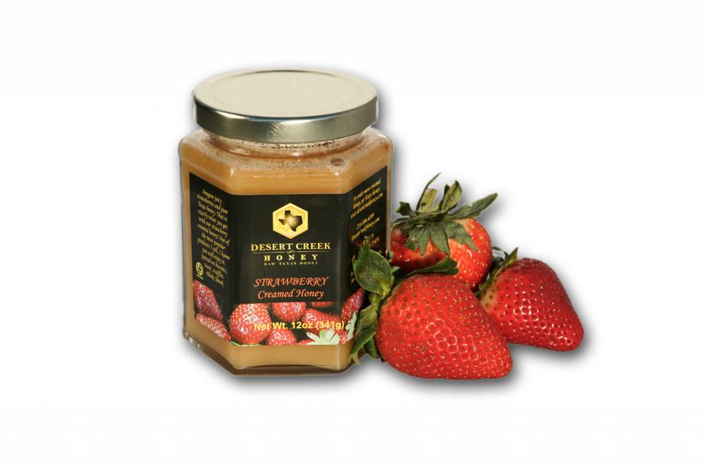 Strawberry Creamed Honey
