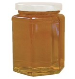 Hex Glass Jar with Lid 12 oz. 12 pk