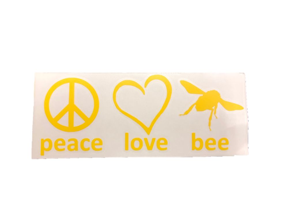 Peace Love Bee Decal