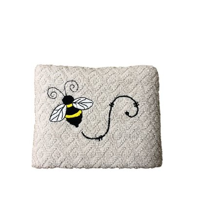 Grey Kitchen Hand Towel with Single Bee