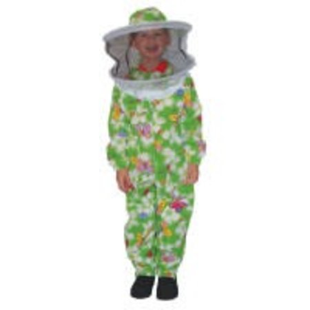 Green Patterned Suit Child 4-8 with Fencing Veil
