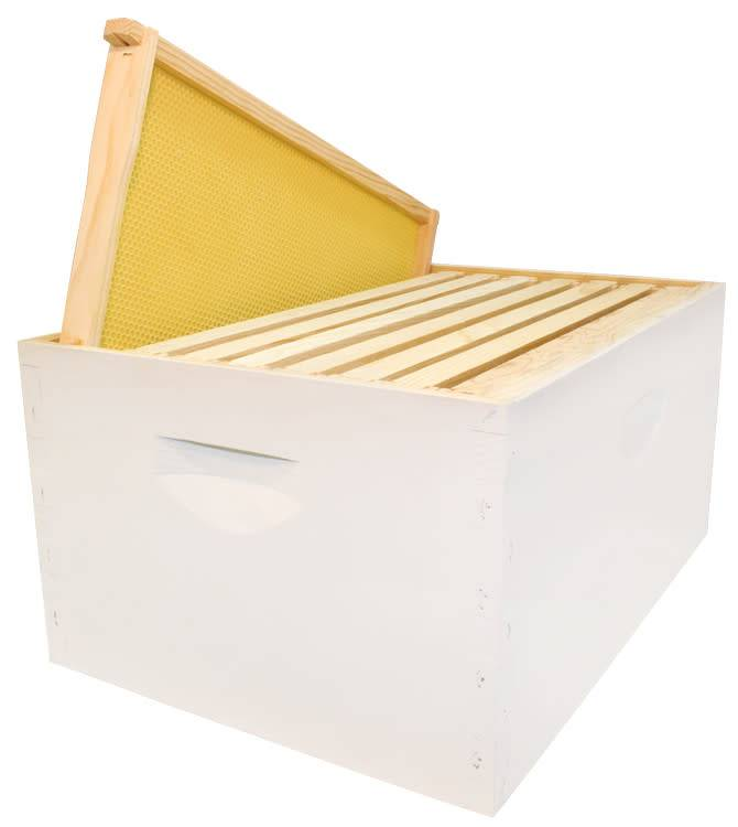 8 Frame Deep Assembled White Hive Combo w/Frames & Foundation
