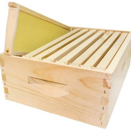8 Frame Medium Assembled Unfinished Hive Combo w/Frames & Foundation
