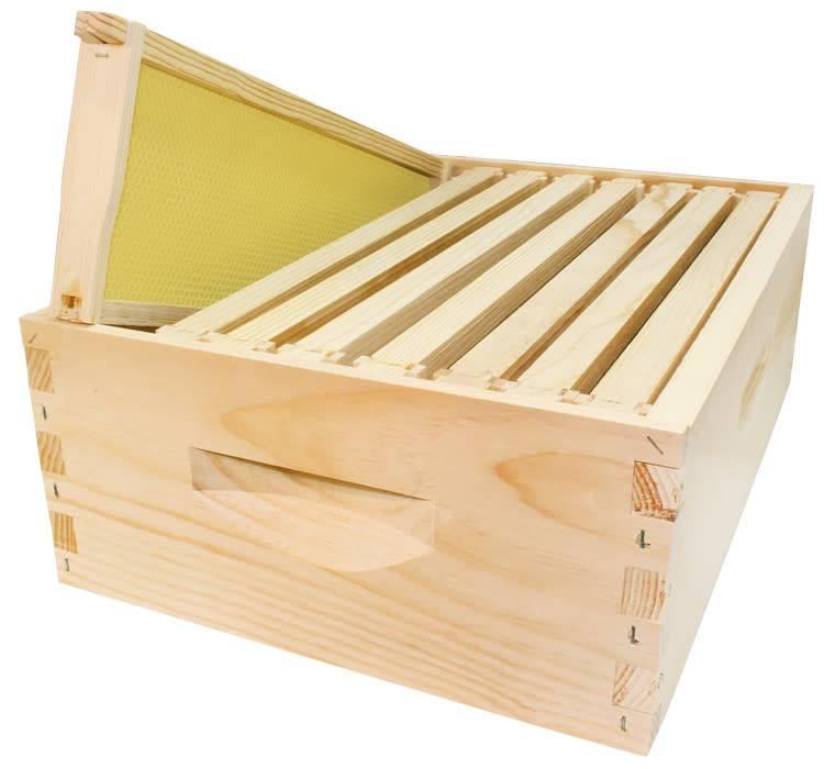 8 Frame Medium Assembled Unfinished Hive Combo w/Frames & Foundation