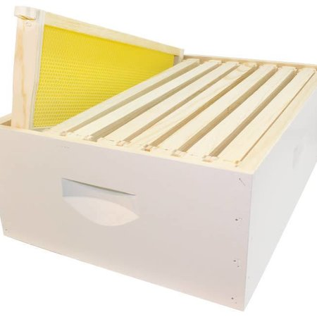 8 Frame Medium Assembled White Hive Combo w/Frames & Foundation
