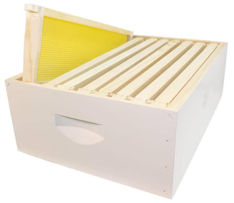8 Frame Med Assembled White Hive Combo w/Frames & Foundation
