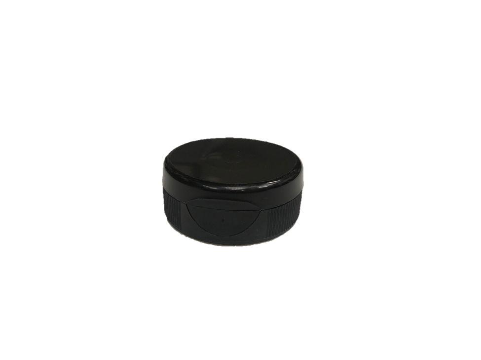 Black flip top lids for plastic squeeze bottles