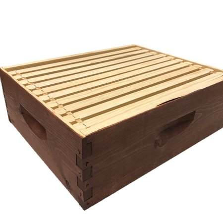 10 Frame Medium Assembled Stained Hive Combo w/Frames & Foundation