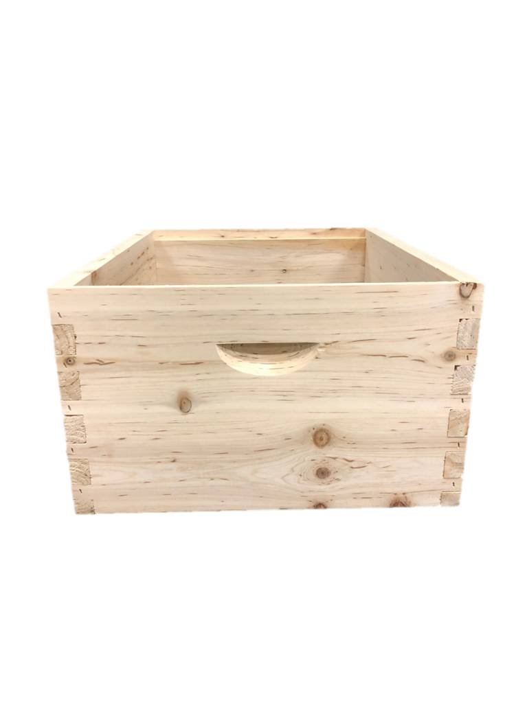 10 Frame Cypress Deep Assembled Unfinished Hive Box w/o Frames
