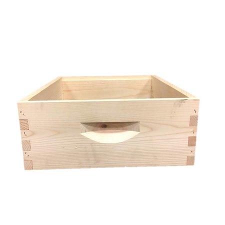 10 Frame Medium Assembled Unfinished Pine Hive Box w/o Frames