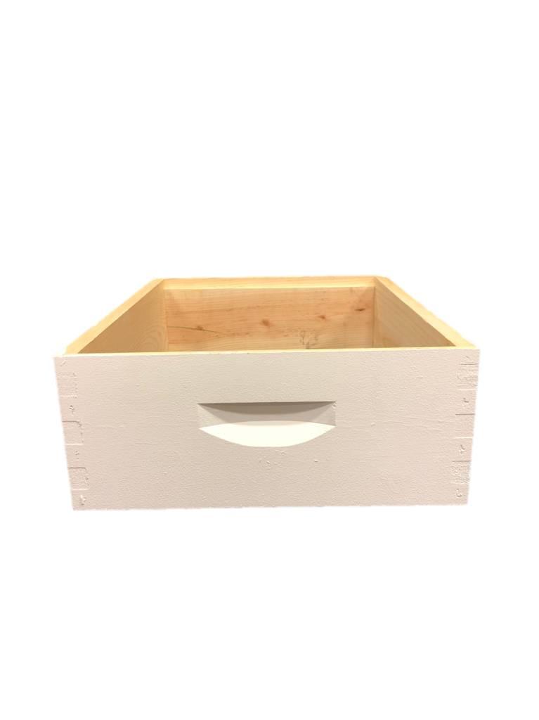 10 Frame Med Assembled White Pine Hive Box w/o Frames