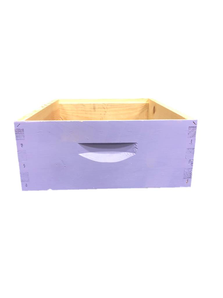 10 Frame Med Assembled Bright Colors Pine Hive Box w/o Frames