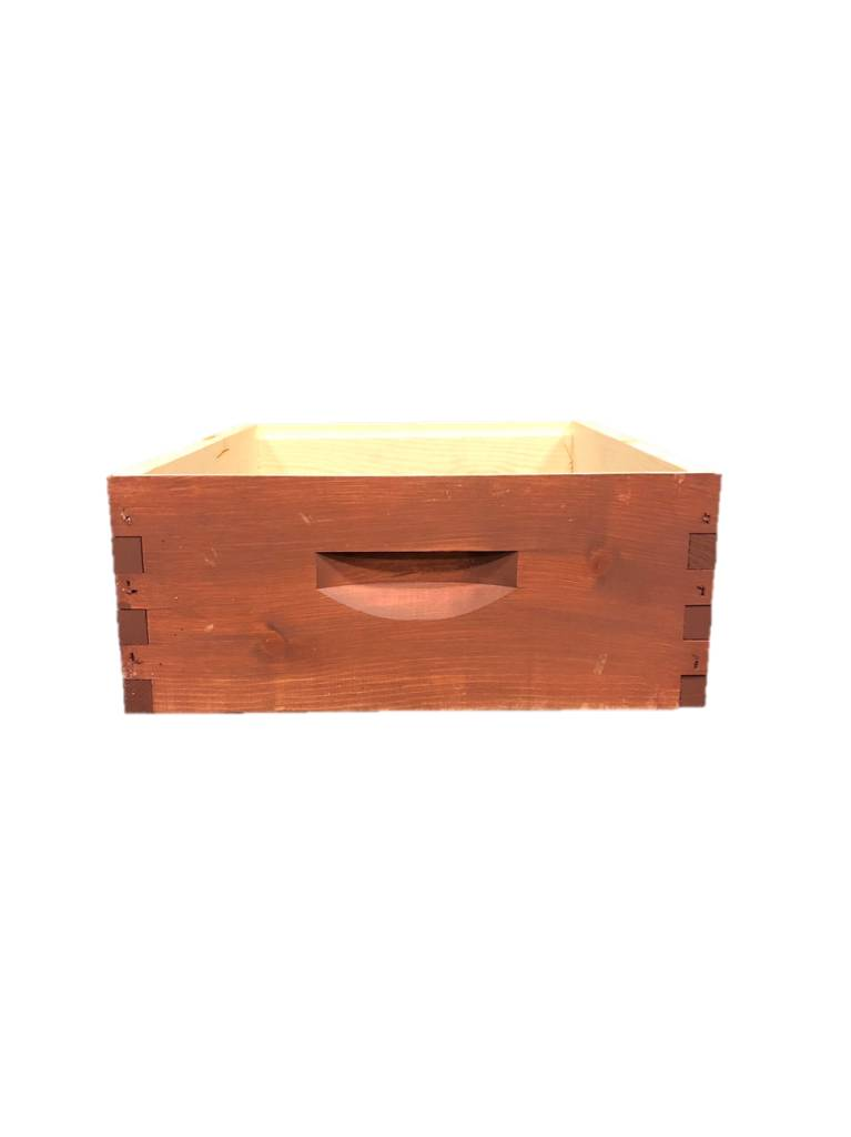 10 Frame Medium Assembled Stained Pine Hive Box w/o Frames