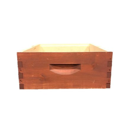 10 Frame Med Assembled Stained Pine Hive Box w/o Frames